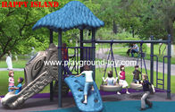 Luar ruangan LLDPE Anak Set swing Childrens swing Set Kayu Untuk Amusement Park RKQ-5156A for sale