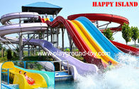 Fiberglass Big Water Slide Water Amusement Park Untuk Amusement Park for sale