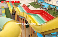 Multi-Slides Rainbow GRP Water Park Peralatan, Custom Water Slides Dari Top Water Park Classic for sale